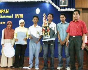 Juara II lomba Foto Pelajar&Mahasiswa se-Jateng, maret 2008
